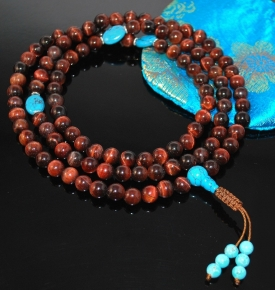 8mm Red Tigers Eye mala