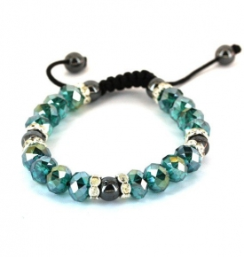 Adjustable Bracelet- Aquamarine
