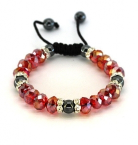 Adjustable Bracelet- Crystal Ruby