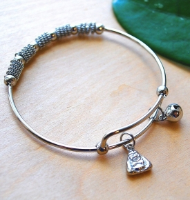 Buddha Bangle Charm Bracelet