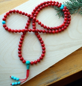 Coral & Turquoise Mala