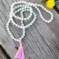 Knotted Mala- Jade & Rose Quartz