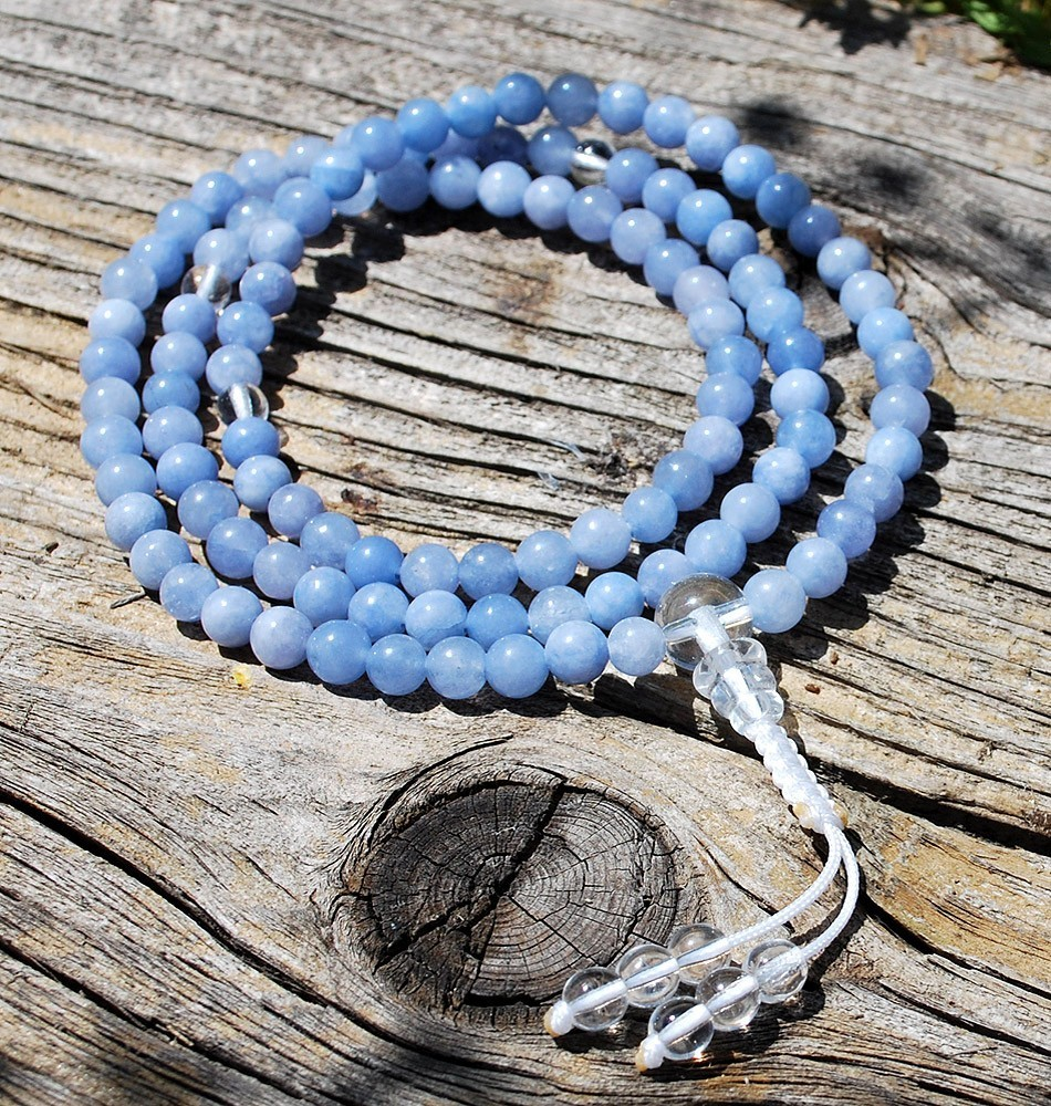 Necklace Mala- Aquamarine