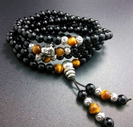Mini Mala-Onyx & Tiger's Eye