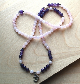 Mini Mala- Rose Quartz