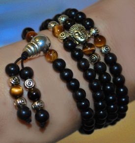 Mini Mala- Wood with Buddha