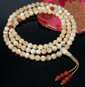 Natural Mother of Pearl Mala