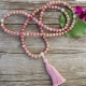 Rhodonite Mala Prayer Beads