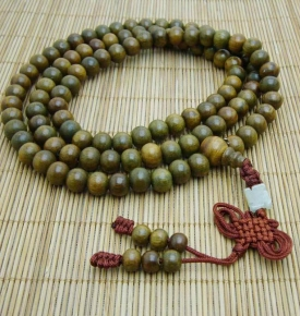 8mm Green Sandalwood Mala