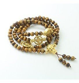Mini Mala-Tiger Eye Dharmachakra