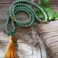 Aventurine 108 Bead Mala with Tassel