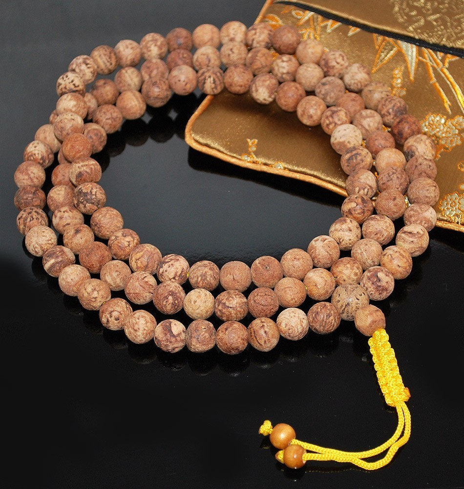 Natural Bodhi Seed Mala 11mm