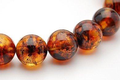 8mm Amber Mala Round