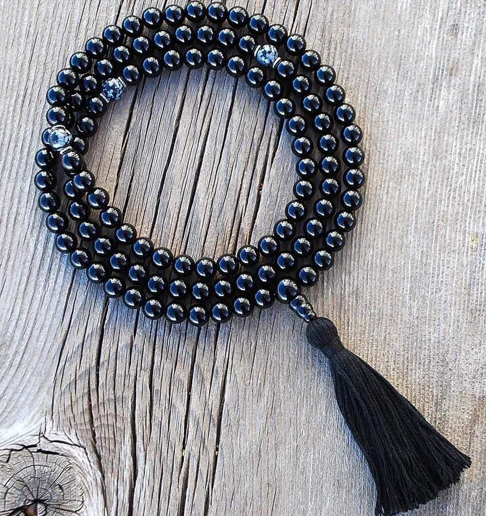 Black Onyx Mala Prayer Bead X