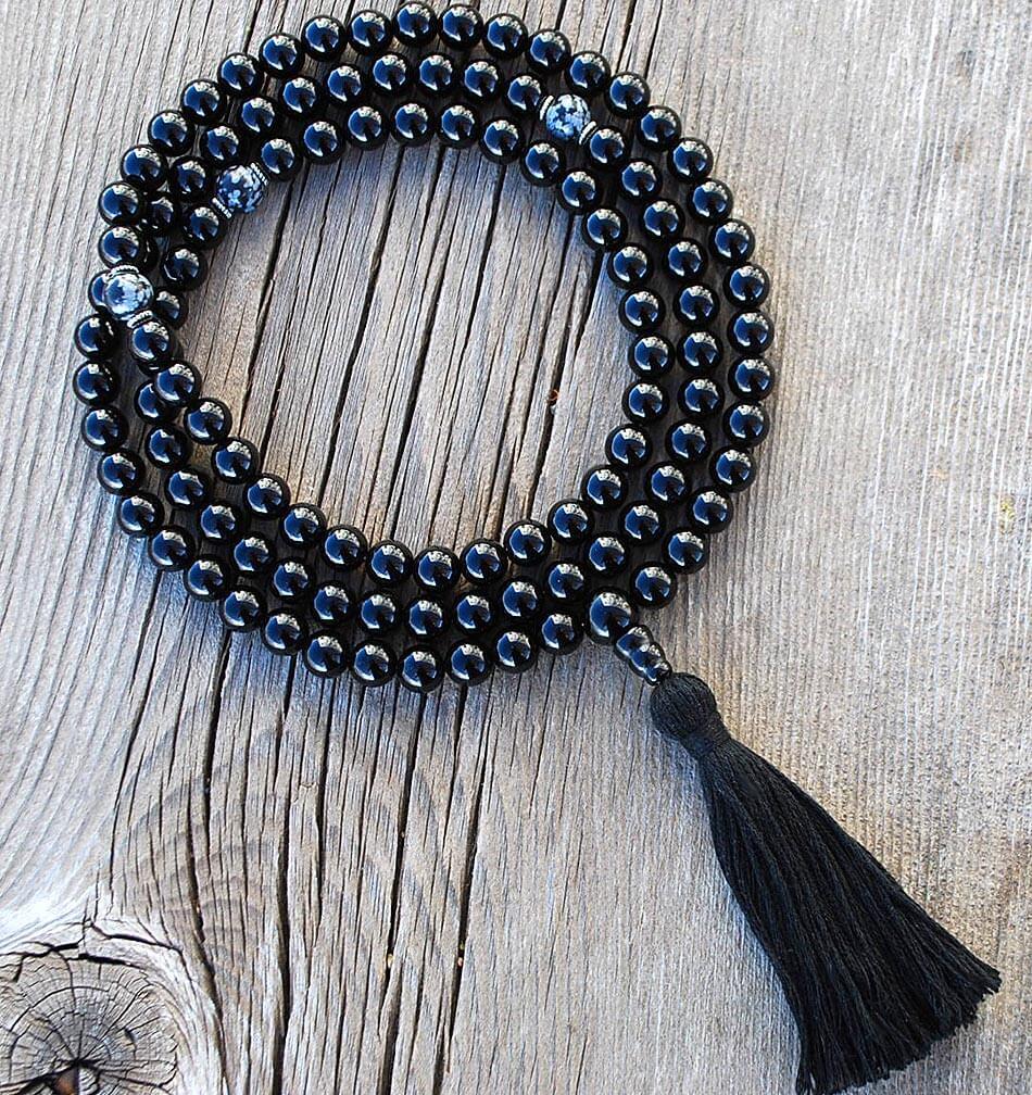 Black Onyx Mala Prayer Beads