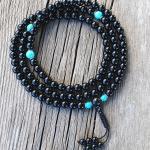Black Onyx with Turquoise Mala Beads