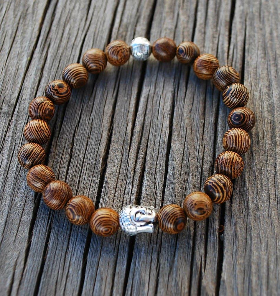 Bracelet Mala- Jichimu Wood Buddha