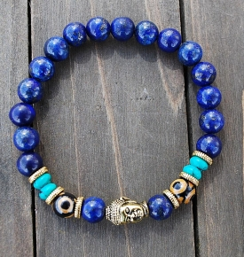 Bracelet Mala Lapis Buddha