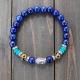 Bracelet Mala- Lapis Lazuli Buddha