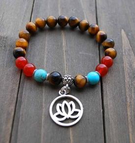 Bracelet Mala Om Lotus