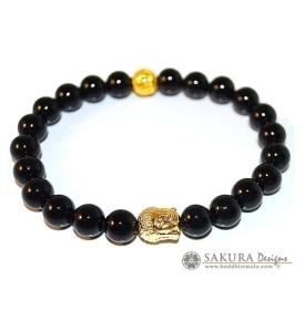 Bracelet Mala Onyx with Buddha