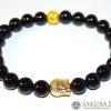 Bracelet Mala- Onyx with Buddha