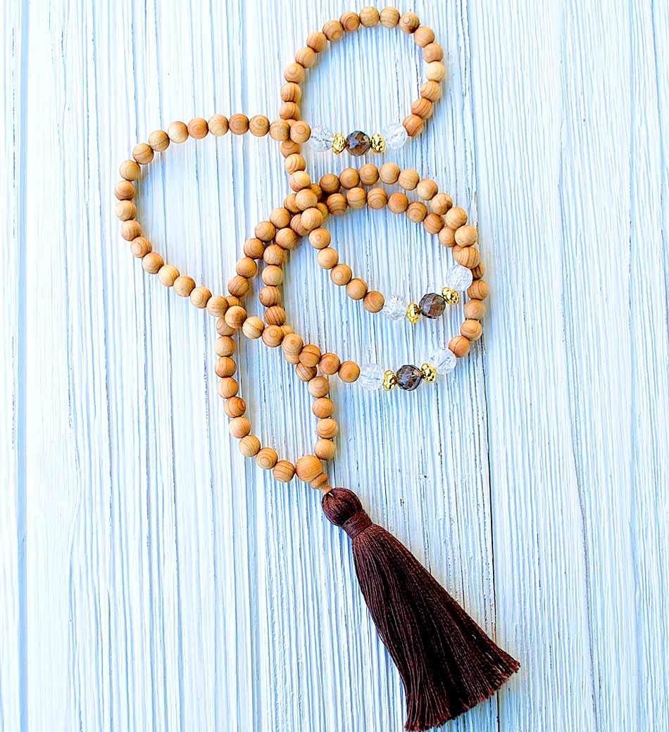 Cedar Mala Necklace