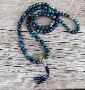 Chrysocolla Mala Prayer Beads