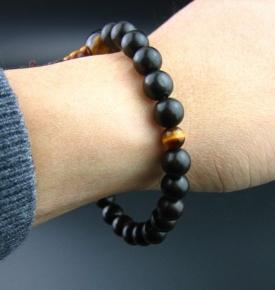 wood mala bracelet