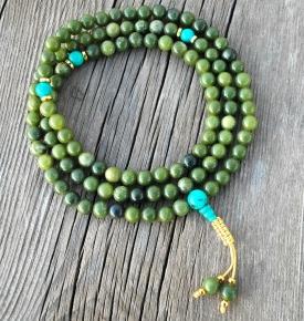 Jade and Turquoise Mala Beads
