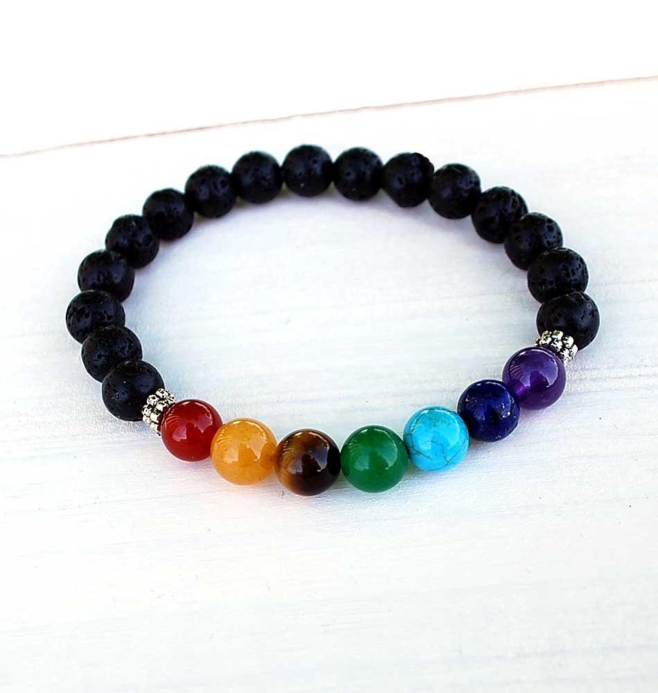 Lava Chakra Mala Bracelets