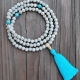 Lotus Turquoise mala beads