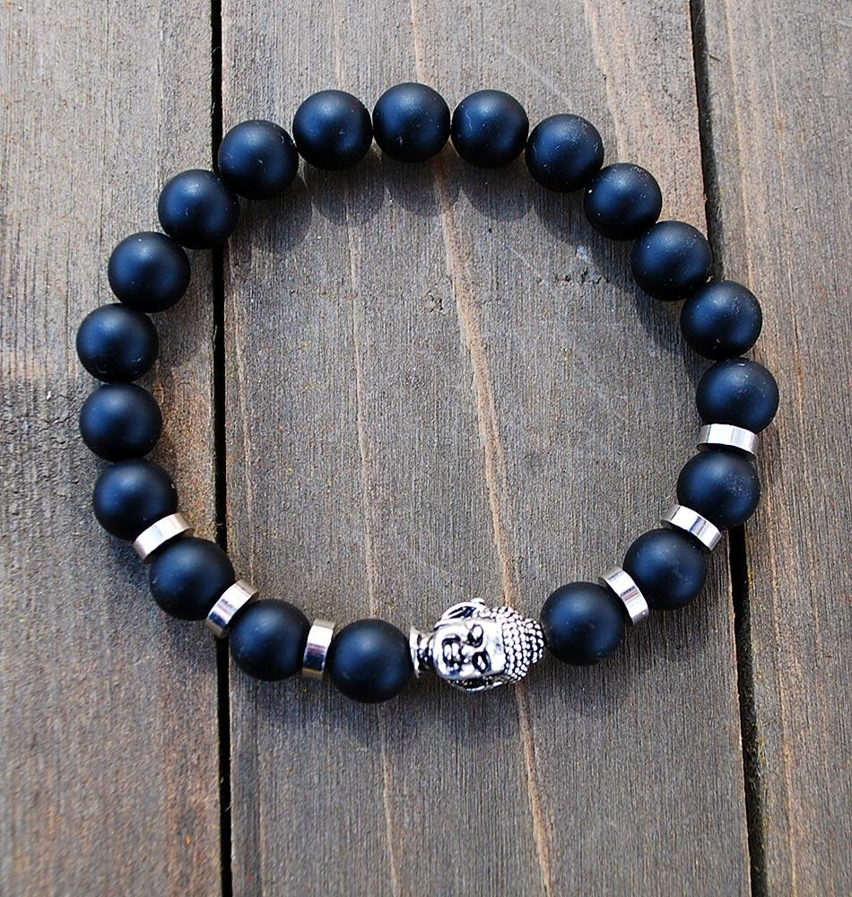 Men's Mala Buddha Bracelet