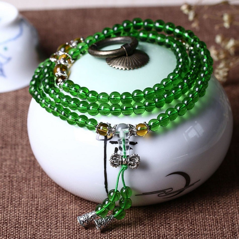 Mini Mala-Aqua Jade