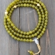 Olivine Jade and Gold Mala