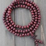Red Wooden Mala Prayer Beads