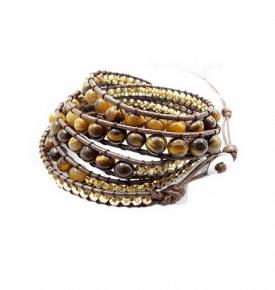 Boho Bracelet Tiger's Eye 6mm