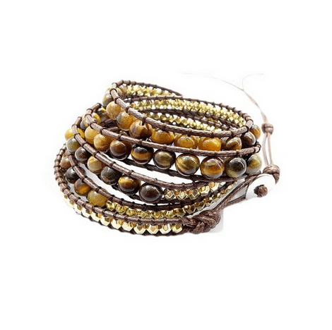 Boho Bracelet Tiger's Eye 6mm
