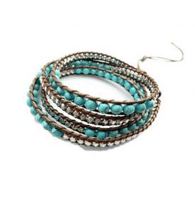 Boho Bracelet Turquoise 6mm