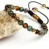 Amethyst,Tiger's Eye & Jasper Bracelets
