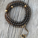 Smoky Quartz Mala Prayer Beads