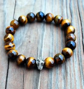 Tiger's Eye Skull Bracelets