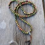 Unakite Buddhist Prayer Beads