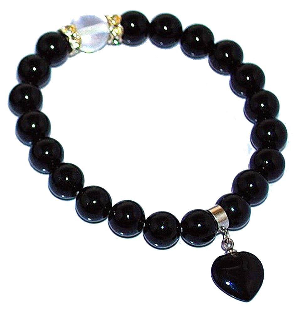 Wrist Mala Onyx Heart Bracelet