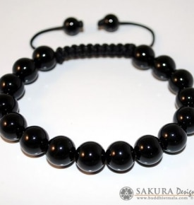 Wrist Mala Bracelet Onyx
