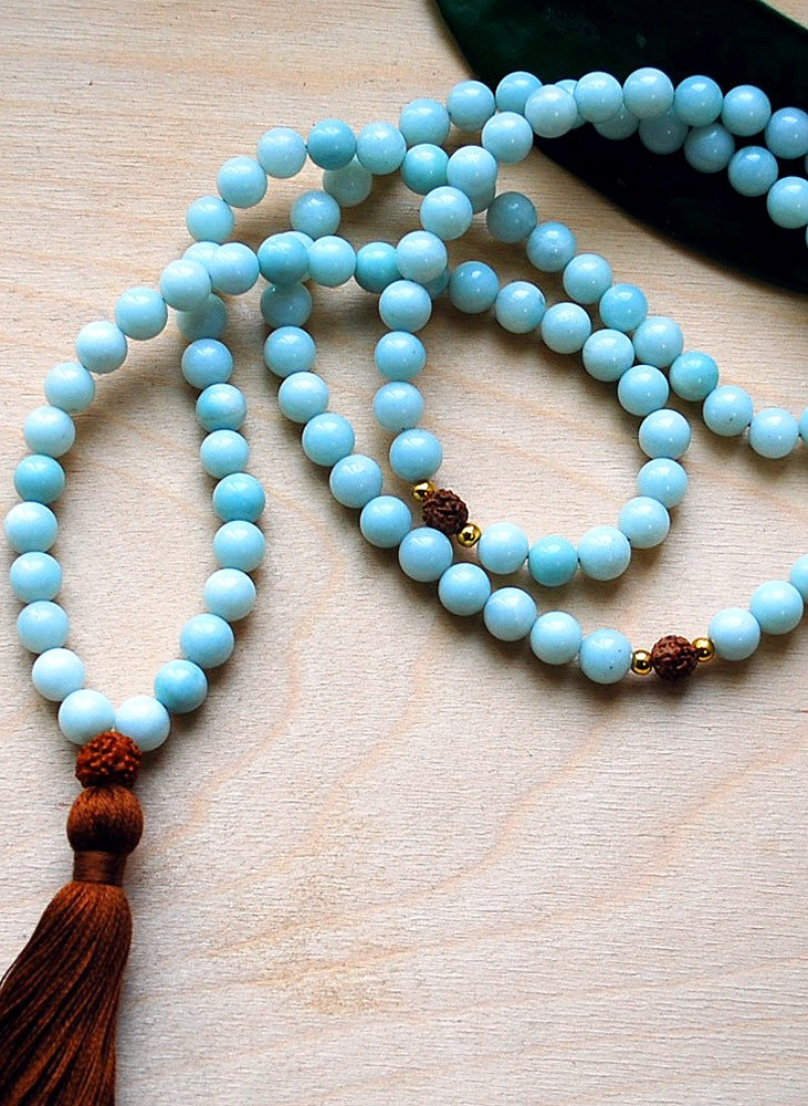 Amazonite Mala Prayer Beads