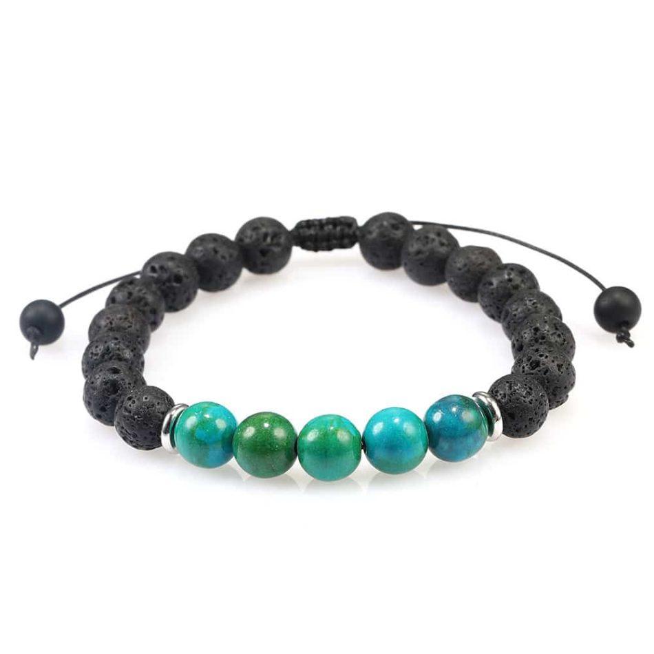 azurite bracelet lava