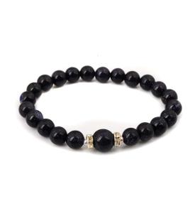 Bracelet Mala- Blue Goldstone
