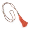 Boho Buddha Necklace- Coral