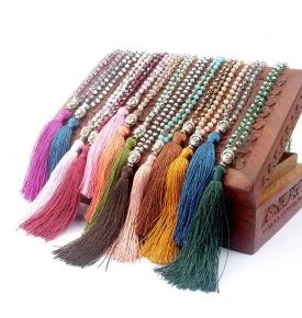 Boho Buddha Necklace- Coral